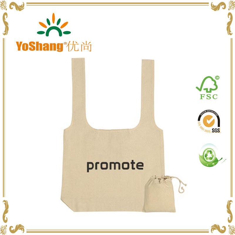 f7c997c15 China New Design T-Shirt Folding Cotton Bag Can Be Folded Into a Drawstring  Pouch Drawstring Cotton Tote Bag - China Foldable Canvas Bag, Canvas Tote  Bag