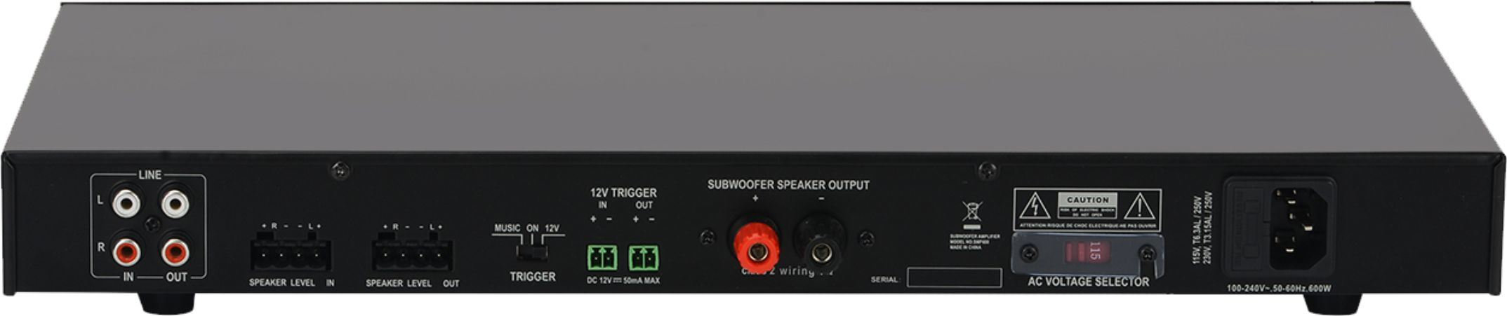 400W Subwoofer Amplifier with DSP Control