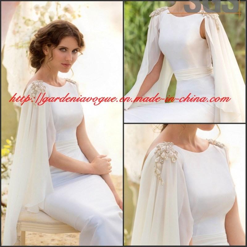 China Sheer White Long Batwing Sleeve SGS Garden Fashion Puffy ...