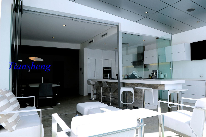 new concept ac016 b1470 [Hot Item] Exterior Interior Frameless Folding Glass Doors