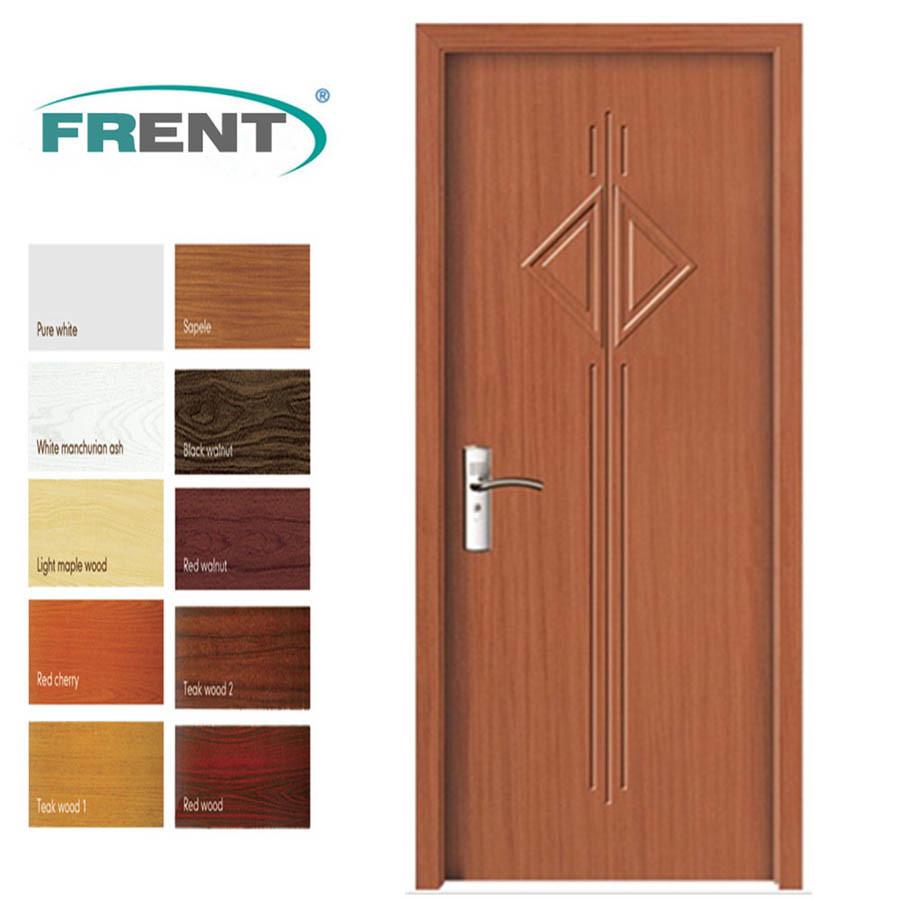 [Hot Item] PVC Bathroom Wooden Door Designs with PVC Coating