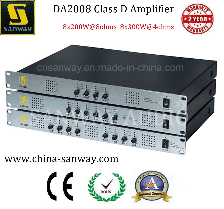 China Da2008 8X300W Class-D 8 Channel Home Theater System 1u Power ...