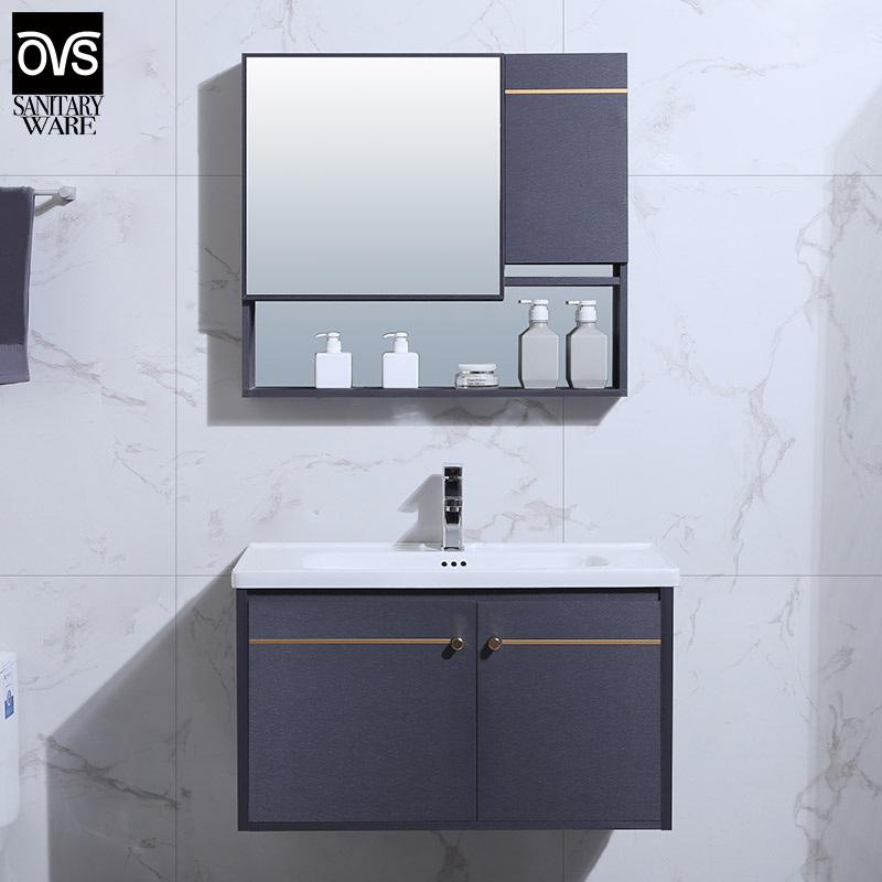 China Classic Design Aluminium Bathroom, Long Mirrored Vanity Cabinets