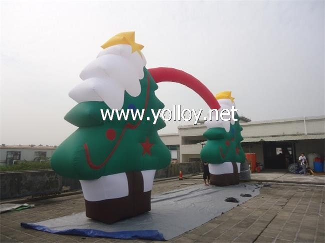 blow up inflatables outdoor christmas tree arch - Outdoor Blow Up Christmas Decorations