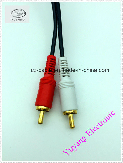 China RCA Cable 3.5mm/3.5, 6.35mm/6.35, 6.5mm/6.5 Stereo Plug to ...