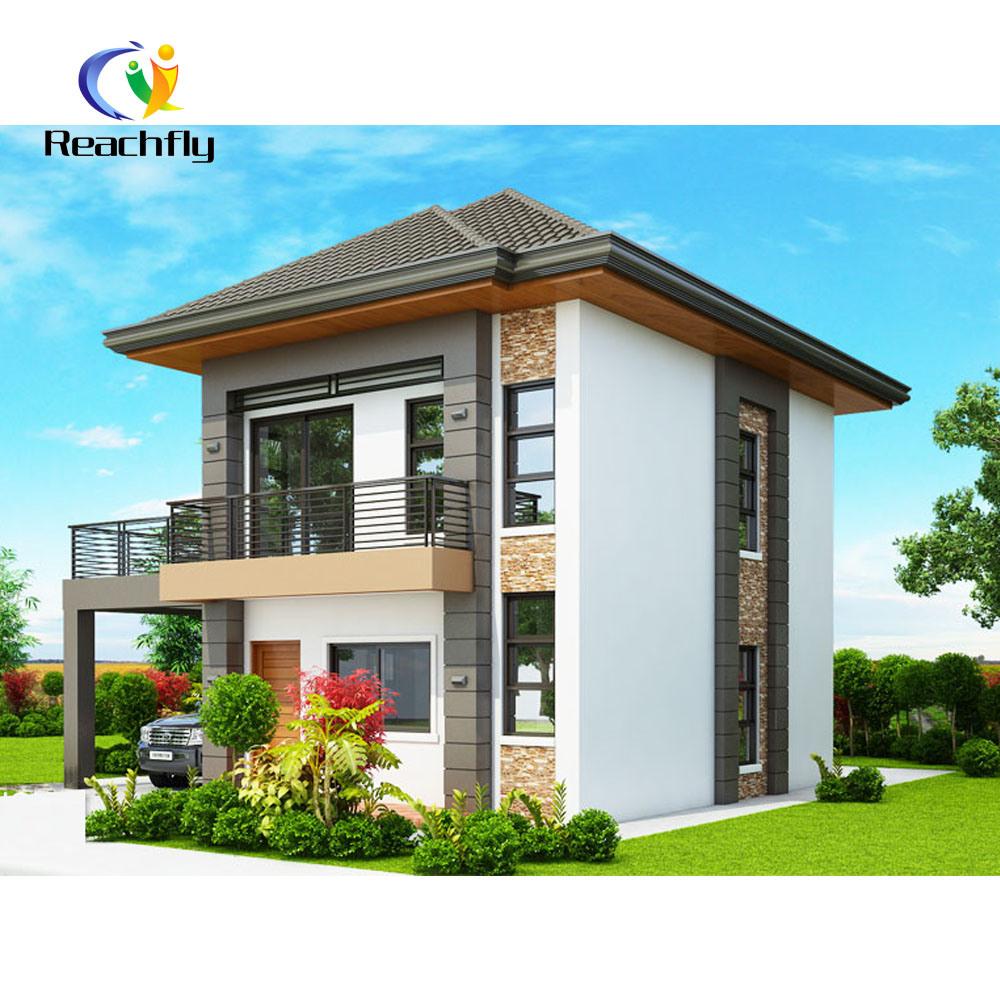 China Modern 2 Floor Prefab House With Spacious Terrace China Prefabricated House Modular House