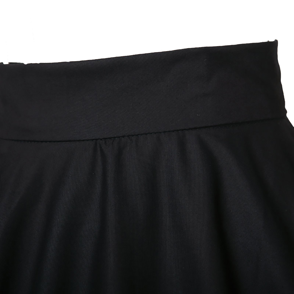 Latest Casual 60s Pinup Rockabilly Black MID-Length Skirts for Girls