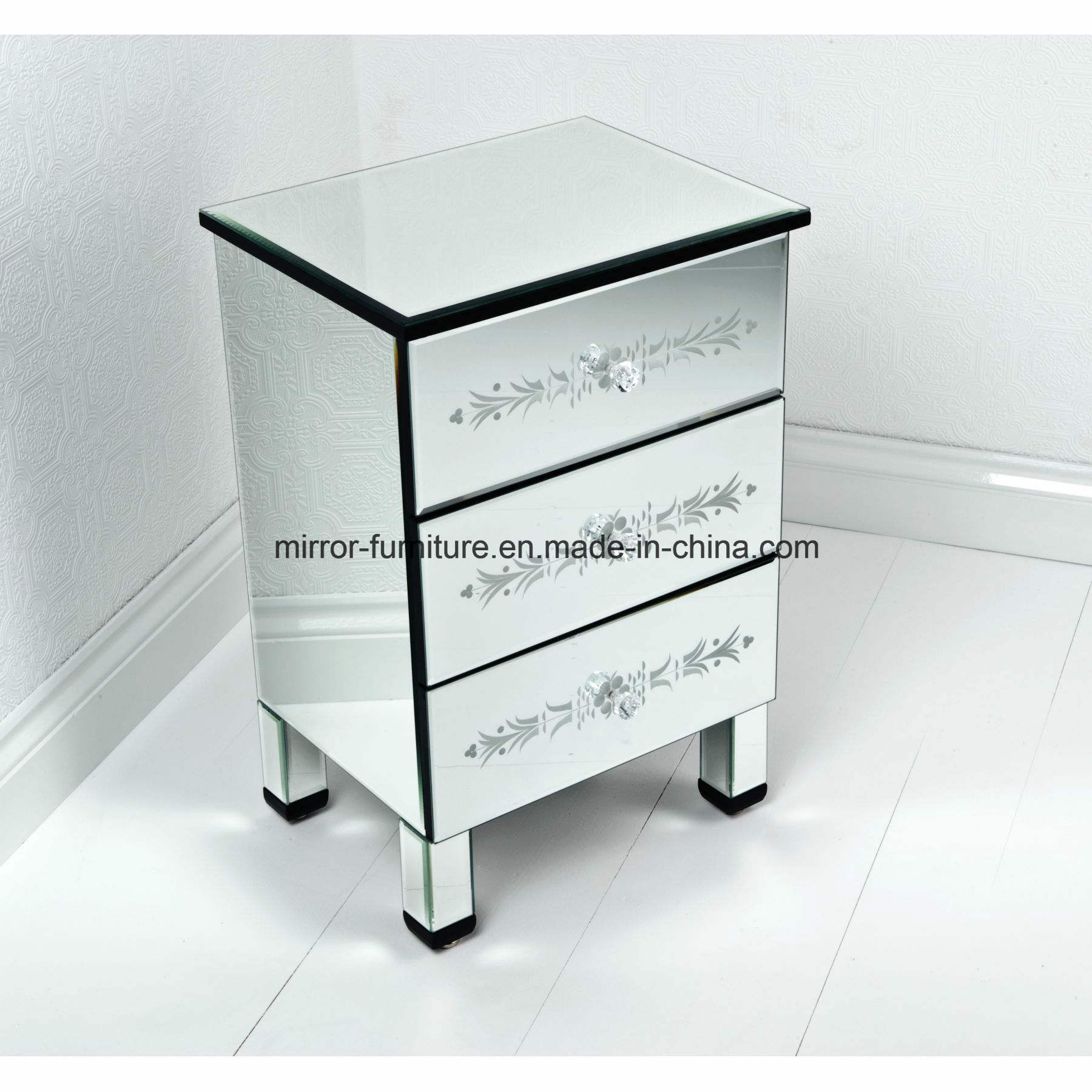 Hot Item Home Living Furniture Mirrored Bedside Table Mirrored End Table Mirrored Side Table