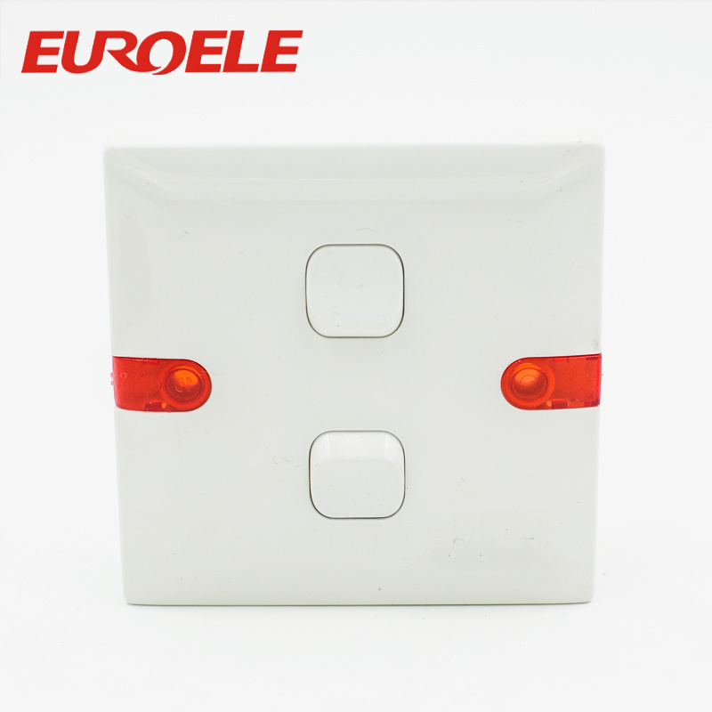 China Indicator Light White Plastic BS 250V/10A Electric Wall ...