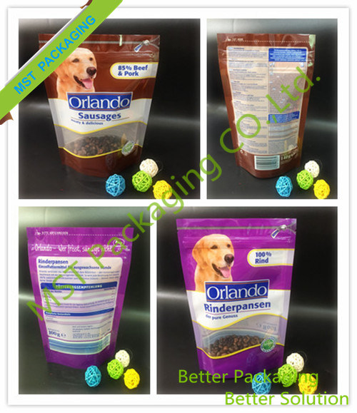 Zipper Stand up Clear Pet Food Packing Bag pictures & photos