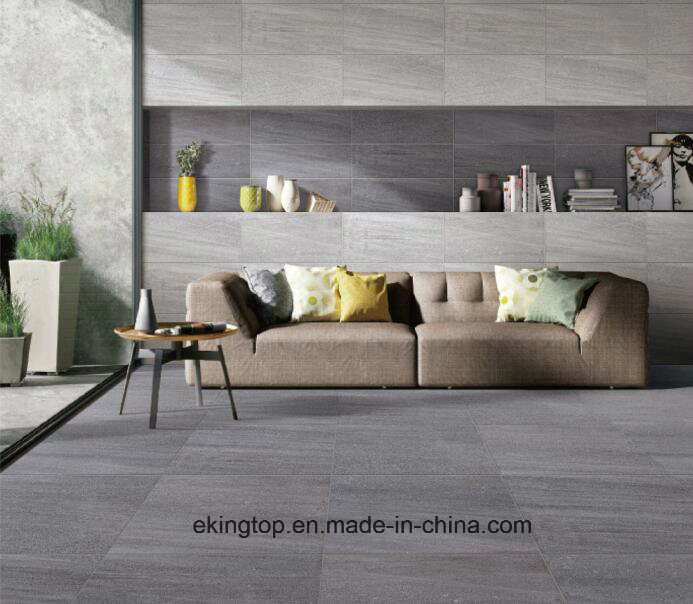 China Rustic Large Dark Grey Cement Porcelain And Ceramic Floor