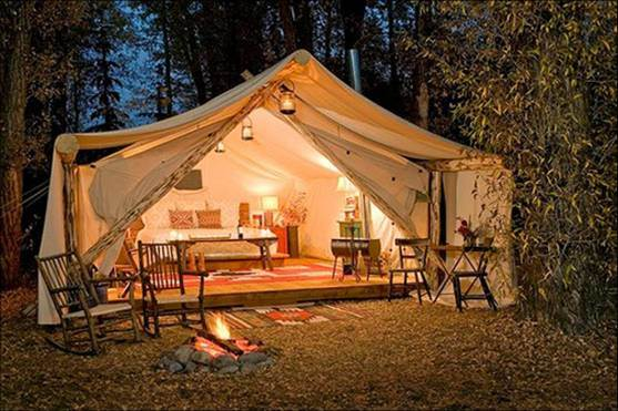 [Hot Item] Heavy Duty Canvas Bell Tent Luxury Glamping Tent