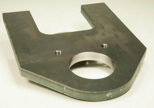 Laser Cutting and CNC Machining of Steel Lateral Plate for Alternative Energy Industry