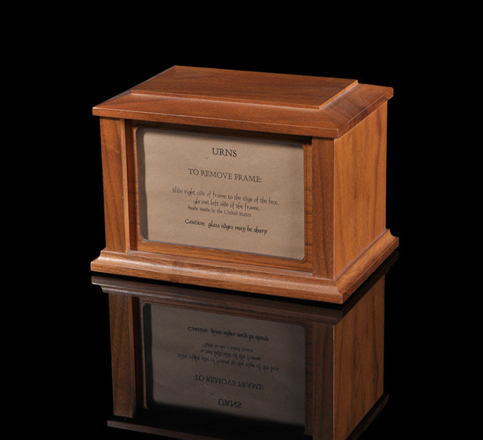 Walnut Wooden Urn with Remove Frame
