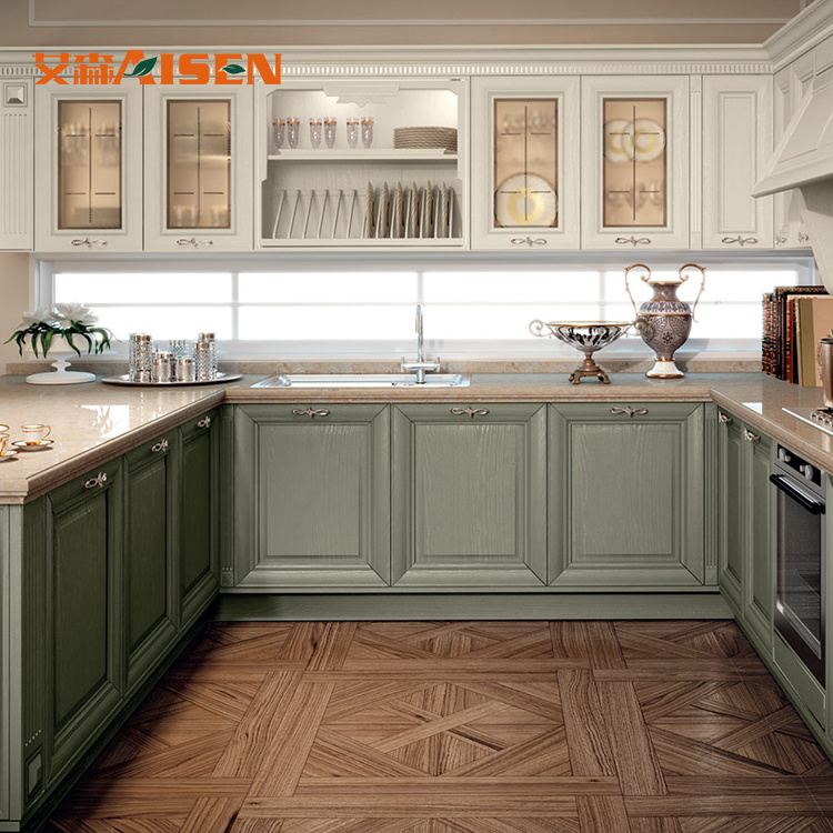 [Hot Item] China Suppliers New Model Classic Solid Wood Kitchen Cabinet