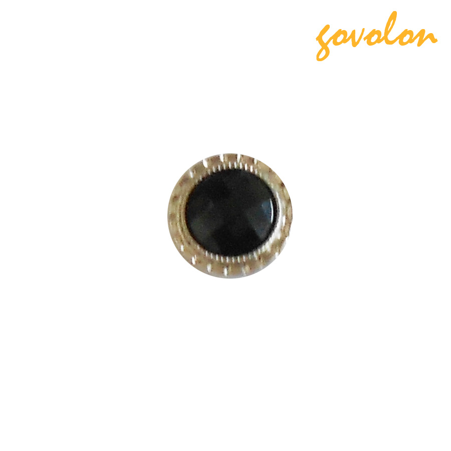 Fashion Snap Button with Black Pearl