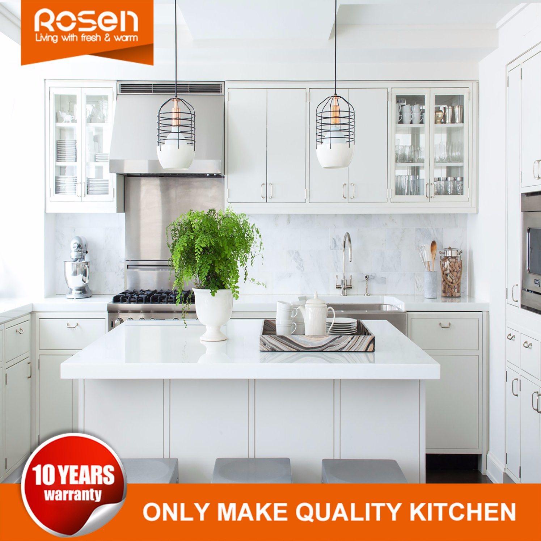 China White Wood Melamine Kitchen Cabinet Luxury Kitchen Cabinets ...