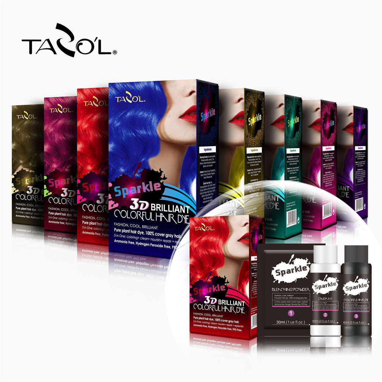 China Tazol Cosmetic Natural Brown Semi Permanent Hair Crazy Color