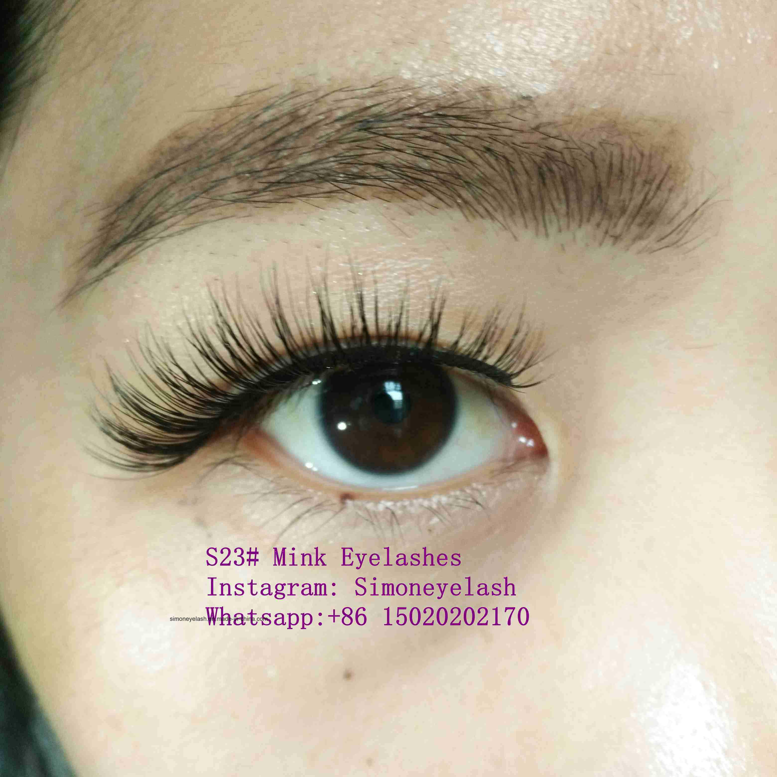 db39dcfb8ce China Natural Mink Fur False Eyelashes Cross Wispy Fake Eye Lashes ...