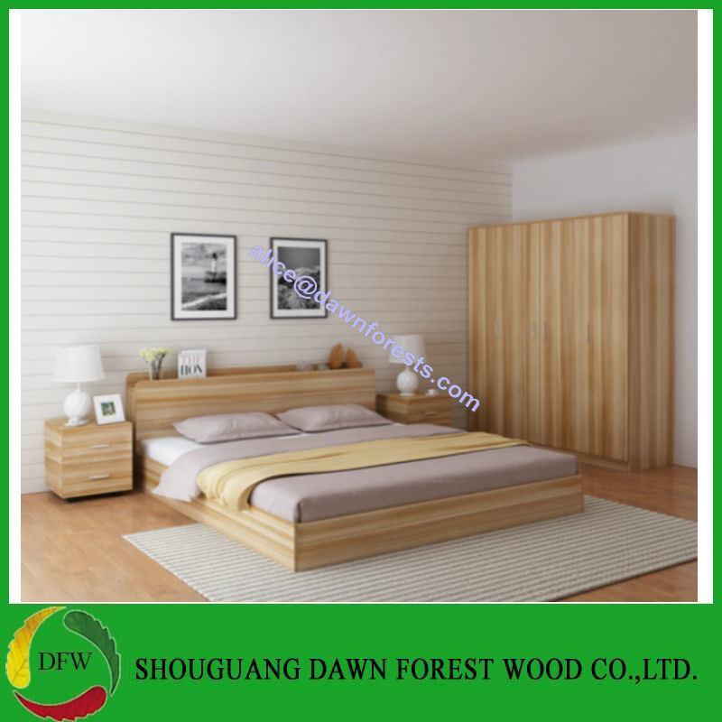 [Hot Item] Hot Sale Wooden Bed for Bedroom Furniture