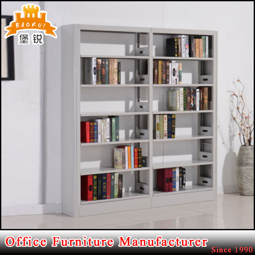 library book furniture double side face steel bookshelves rack jas 064 - Steel Bookshelves