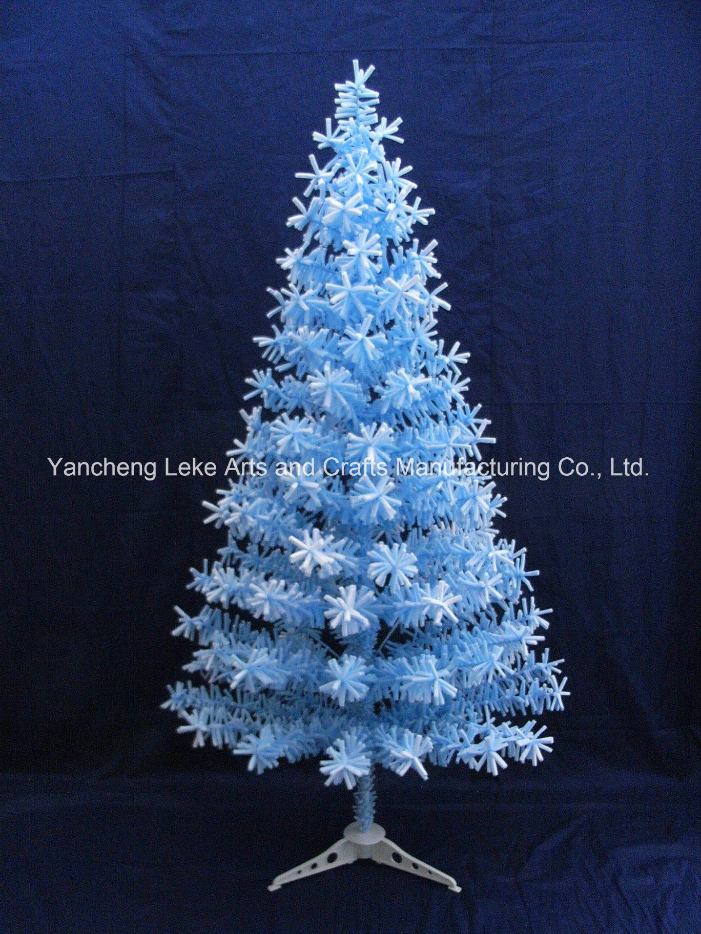 China 120cm Light Blue Sponge Home Decoration Tree Christmas Tree China Optical Fiber Luminescence And Christmas Tree Home Decoration Price