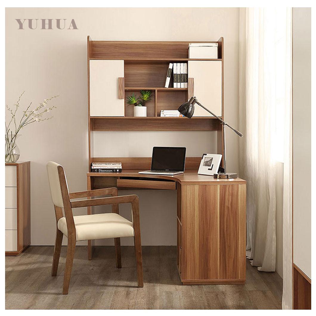 Computer Table Corner Desk Bookcase