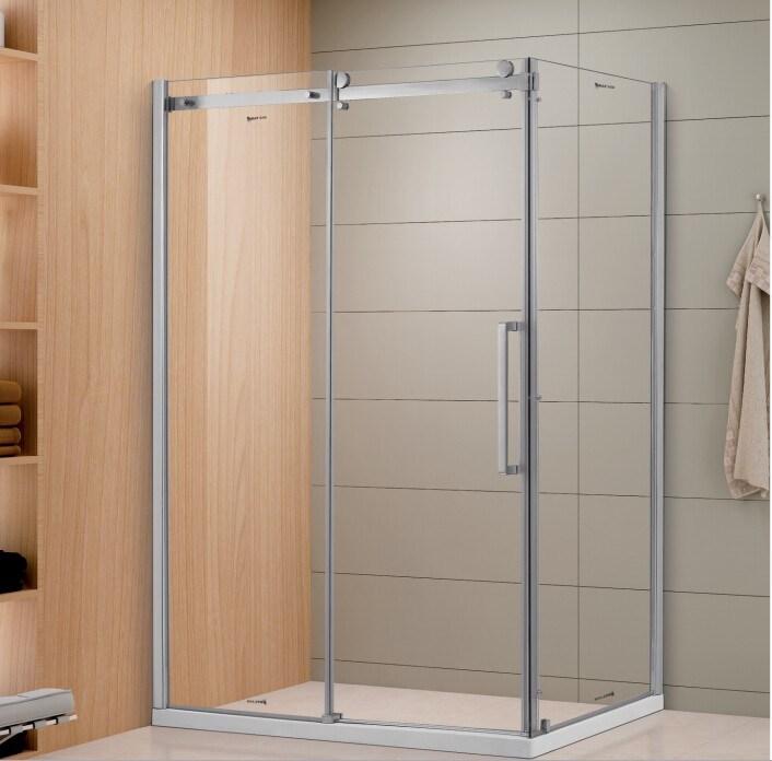 Bathroom Sliding Glass Shower Doors.Hot Item Sally 8mm Frameless Sliding Glass Shower Door With Fixed Side Panel And Twin Big Roller Wheels Enclosure