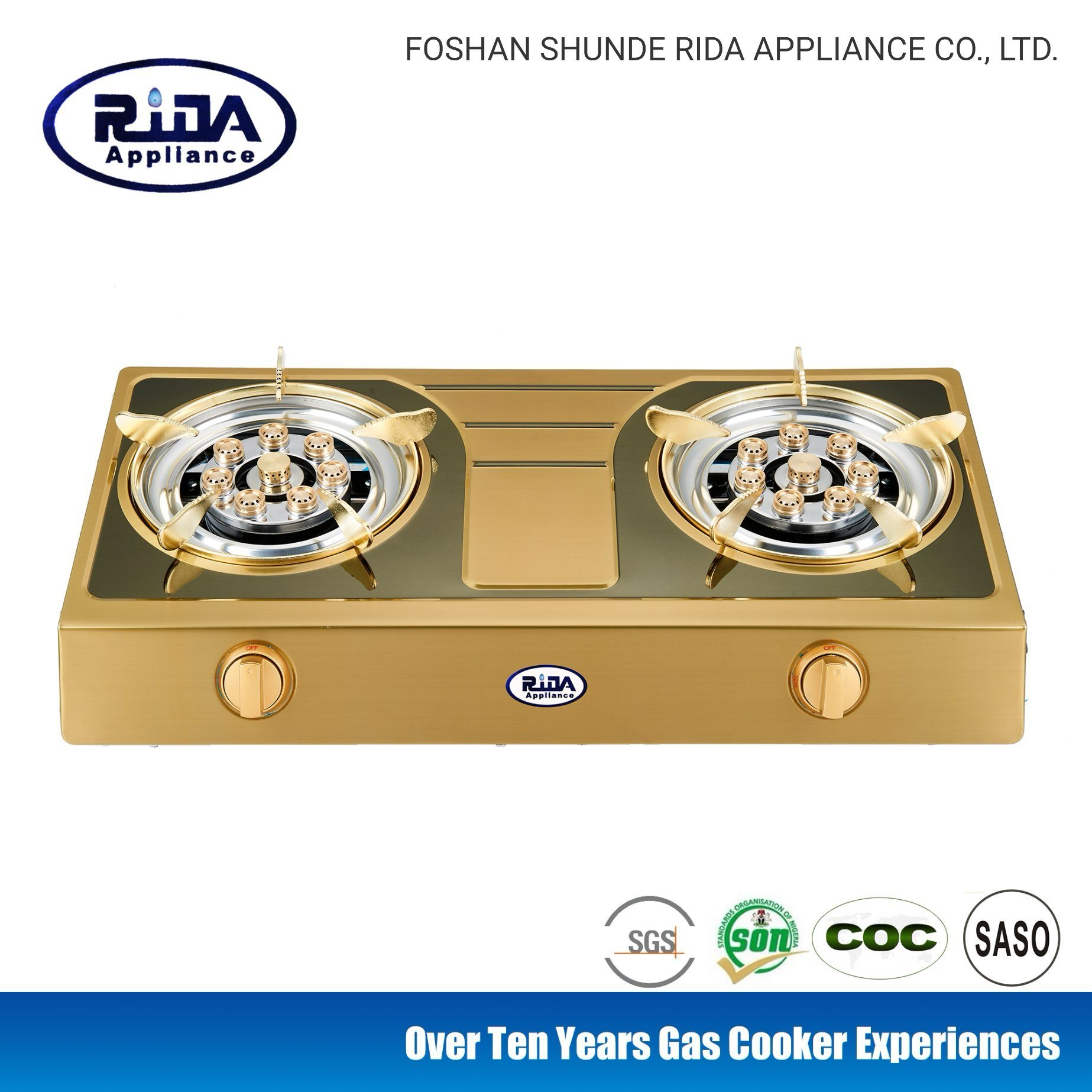 New Model Color Stainless steel Panel Double Burern Household Gas Stove/Kitchen Appliance pictures & photos