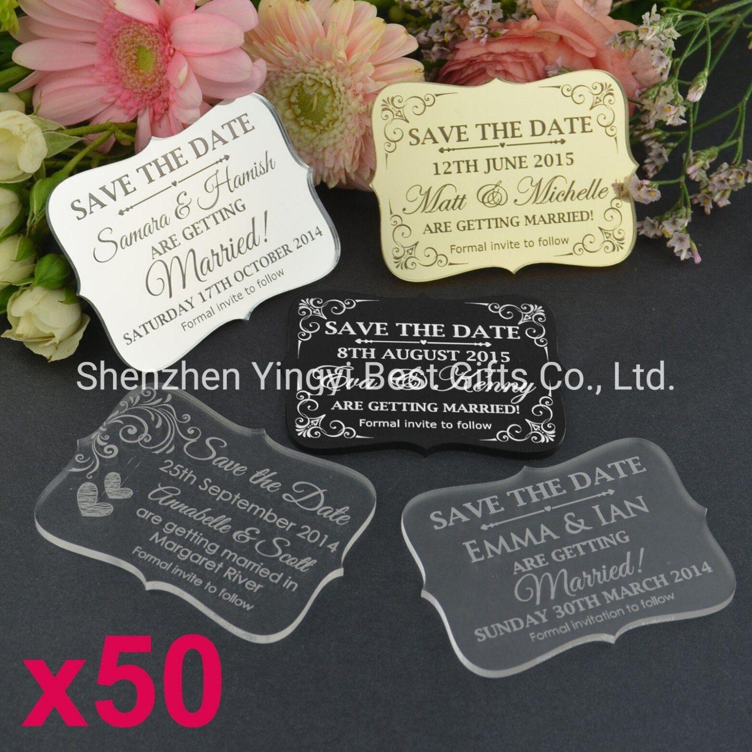 China Custom Clear Acrylic Wedding Invitation Cards - China ...