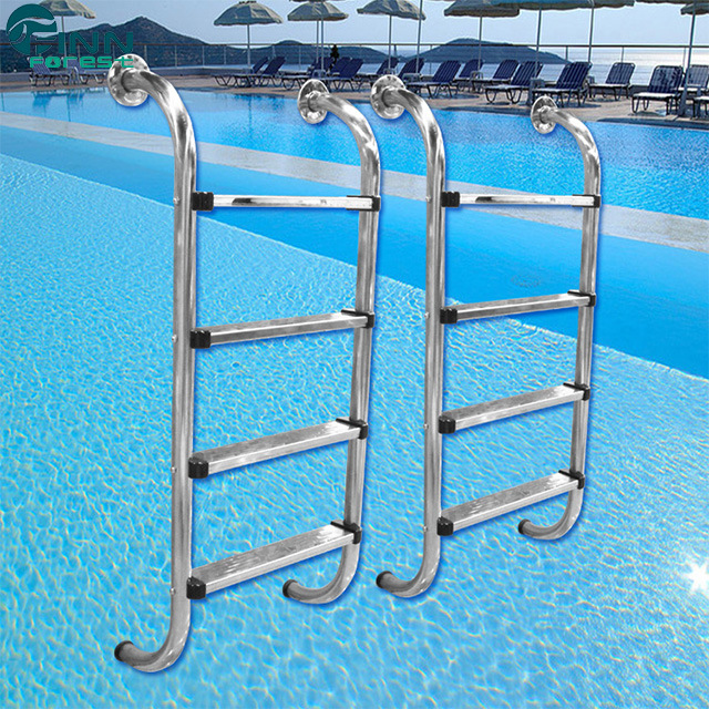 [Hot Item] Factory Price Swimming Pool Stainless Steel 2/3/4/5 Steps Ladder