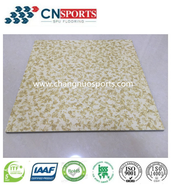 High Quality Decorative Spray Polyurea Elastic Flooring, Embossed Floor pictures & photos