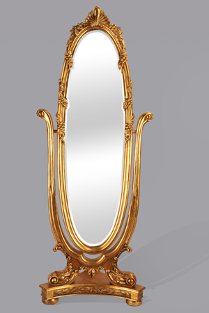 China Antique Gold Dressing Up Oval Shape Framed Standing