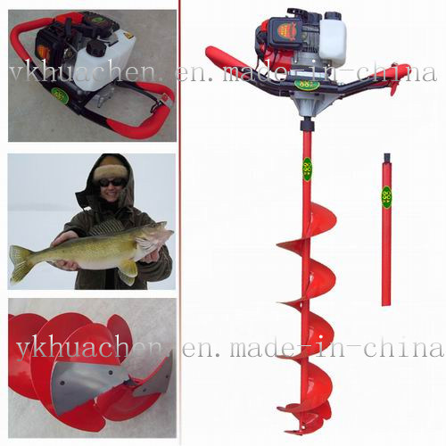 Gasoline Powered Fishing Ice Drill Tjaele Auger Driller