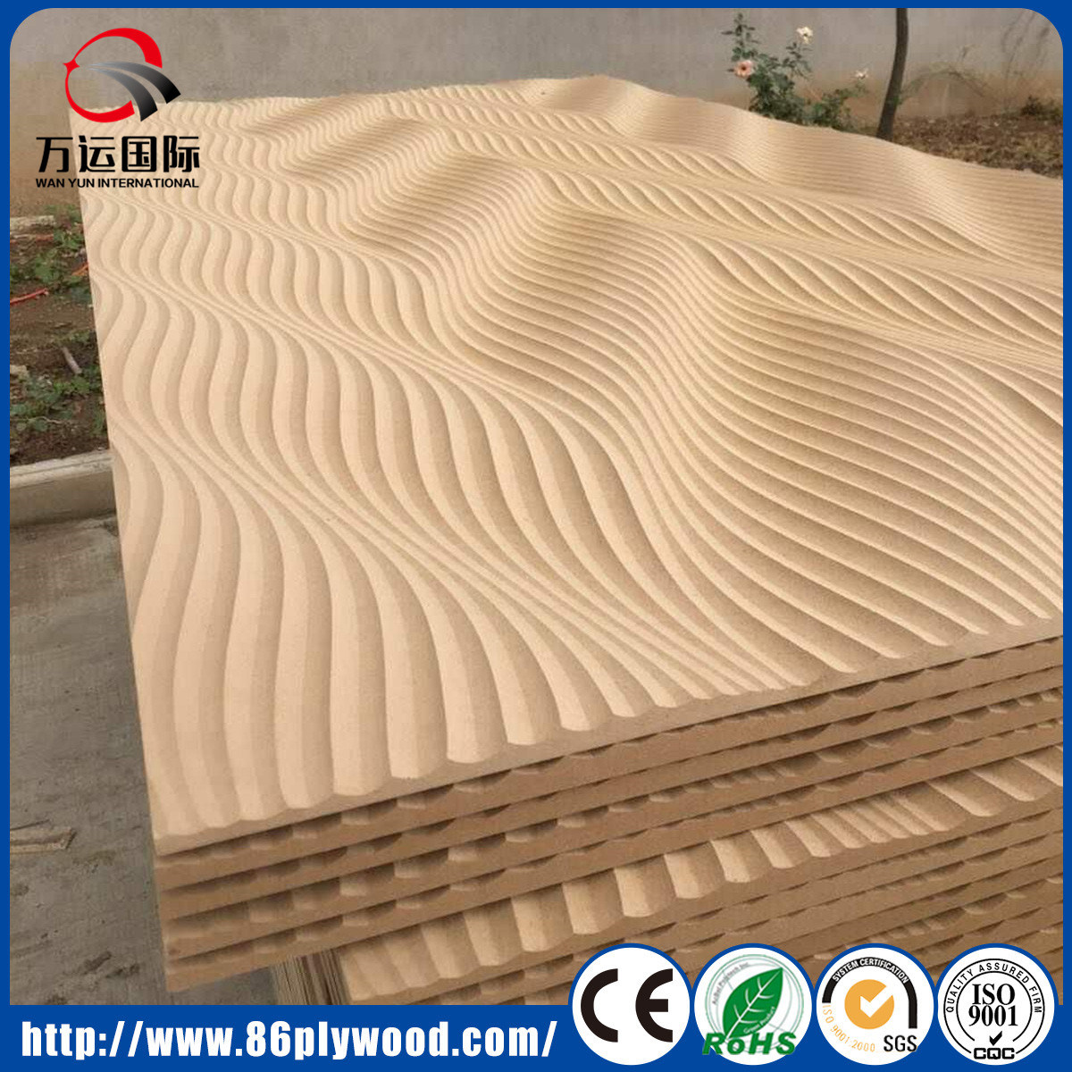 China Decorative TV Wall 3D MDF Wall Panel Wall Covering - China ...
