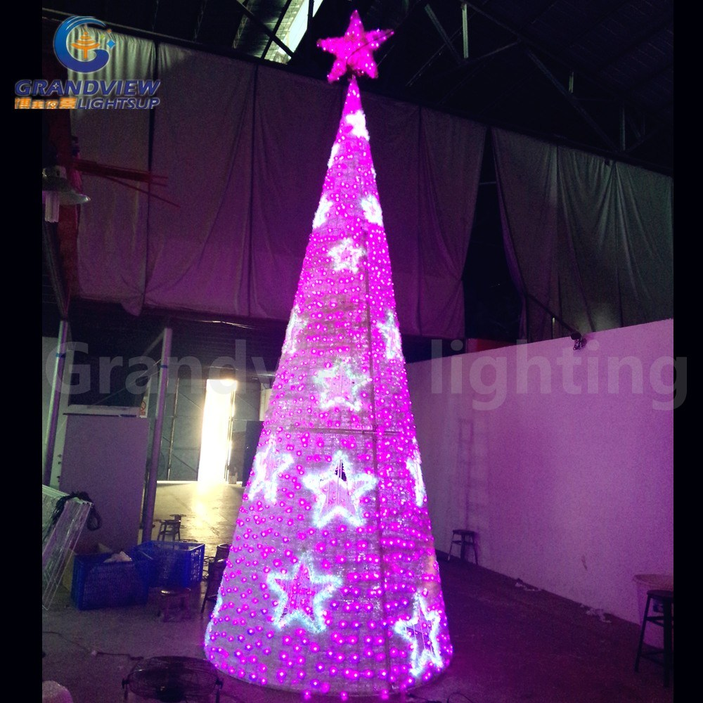 China led christmas tree light xmas decoration cone