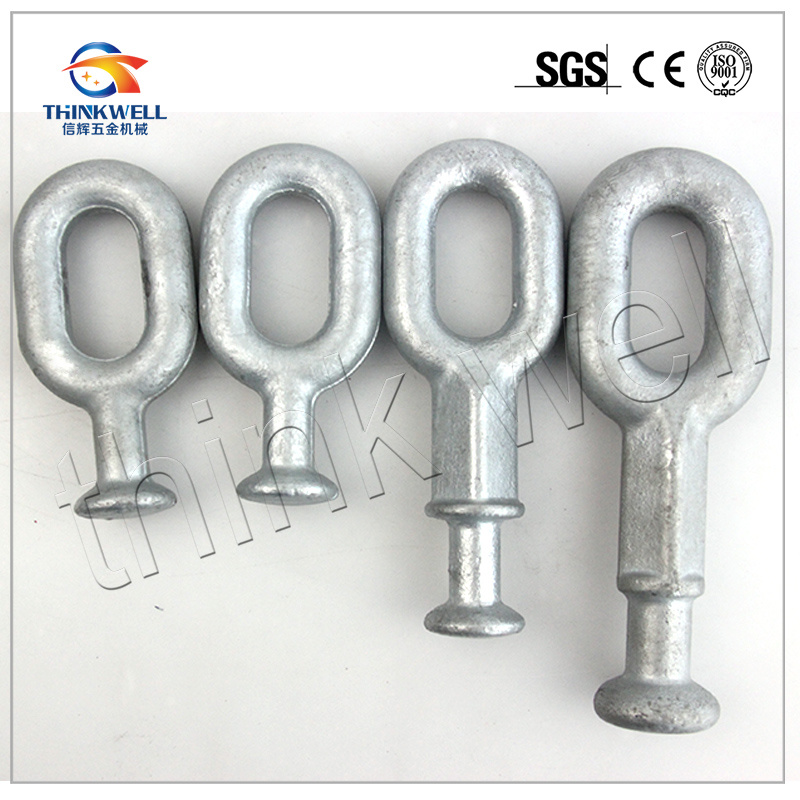 Forged Hot DIP Galvanized Oval Ball for Pole Line