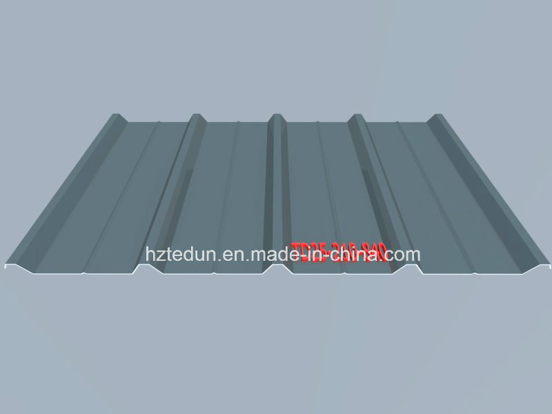 Metal Prepainted Trapezoid Panel for Facades and Wall Cladding (vermilion2002)