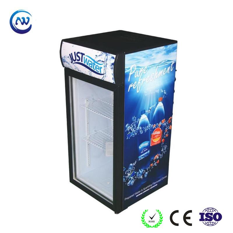China Desktop Display Cooler With Attractive Branding For Beverage Promotion Jga Sc120 Refrigerator Showcase