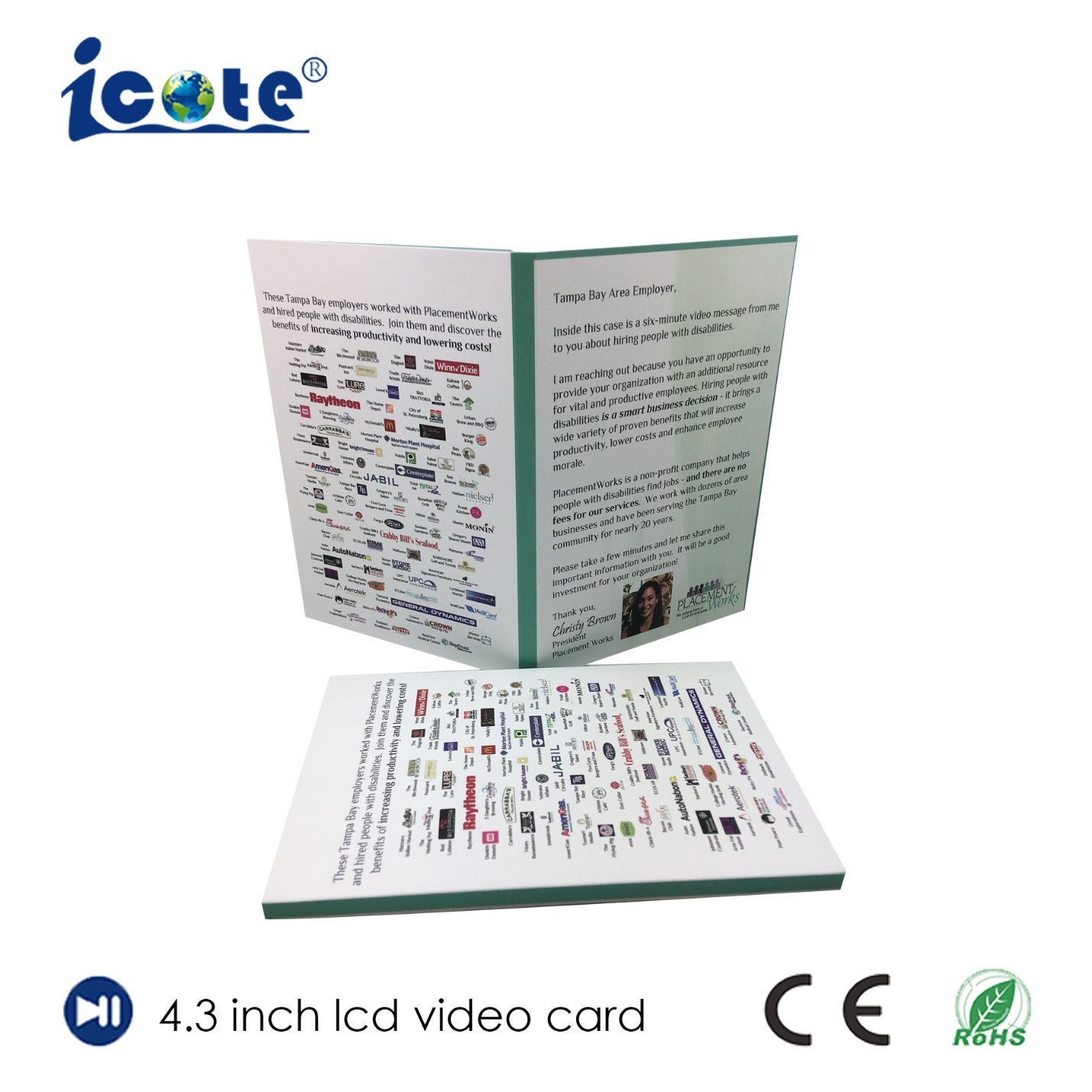 China The New Design Greeting Card Video Module/Buiness