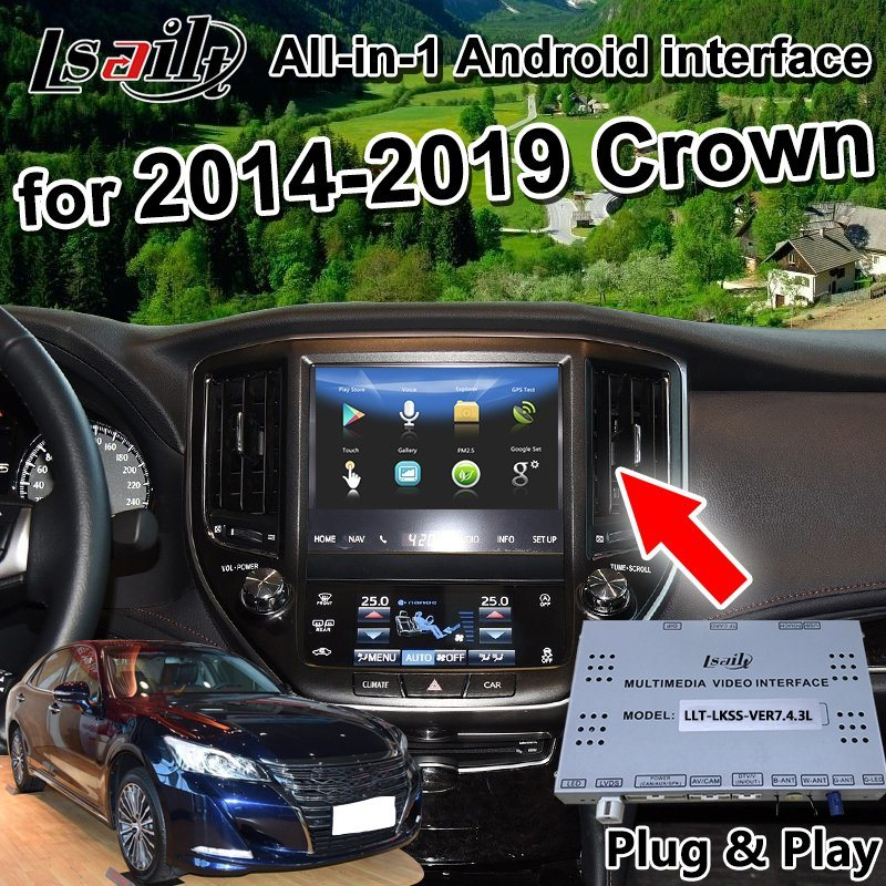All-in-1 Android GPS Navigator for 2014-2019 Toyota Crown Support Android  Auto, Auto Play, Phone Mirrorlink