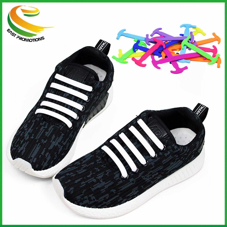 Elastic Silicone V Tie Shoelaces No Tie
