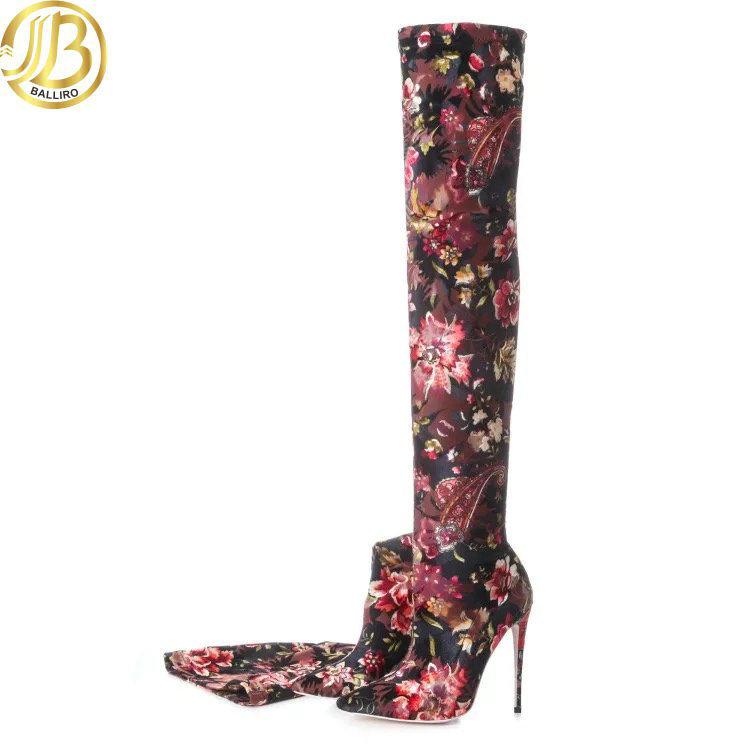 Women High Heel Long fashion Boots