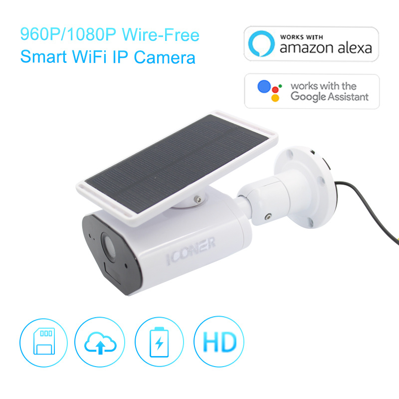 [Hot Item] Clouds Outdoor 960p/1080P Wire-Free WiFi Wireless CCTV IP Solar  Power Camera