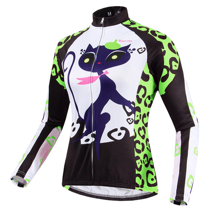 Outdoor Cycling Catwomen Long Sleeve Women′s Bike Wear Suit