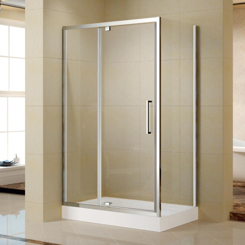 China Aluminum Frame Pivot Shower Door with Acrylic Shower Tray (K ...