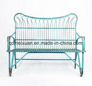 China American Do Old Wrought Iron Double Chair Double Chair