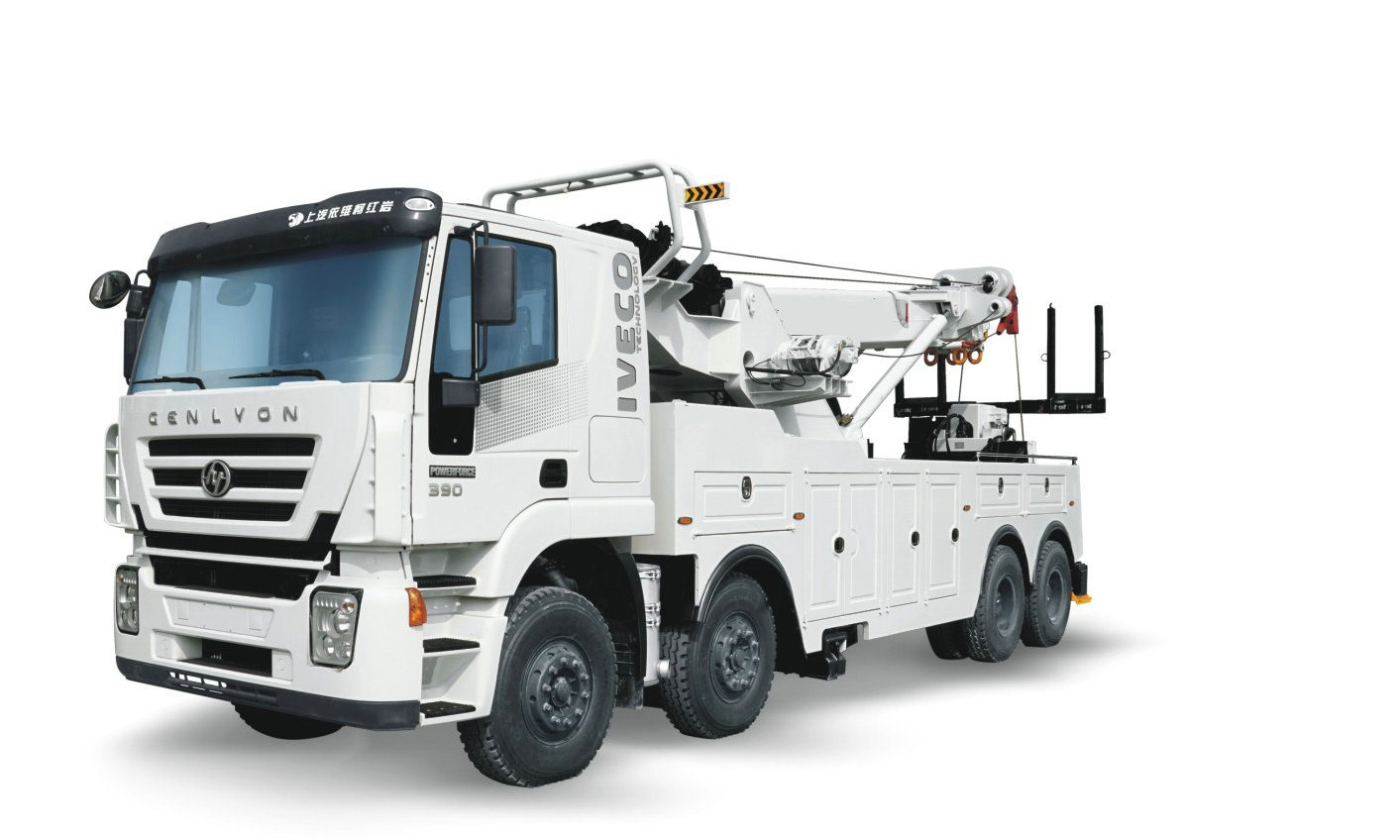 China Iveco Genlyon Recovery Trucks Heavy Duty Wrecker 50tons With Remote Control Rotatory Crane Wrecker For Towing Truck China Recovery Trucks Heavy Duty Wrecker