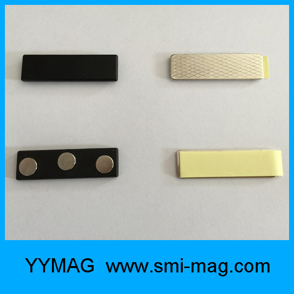 Plastic Magnetic Badge Holders with 3 Disc Neodymium Magnets