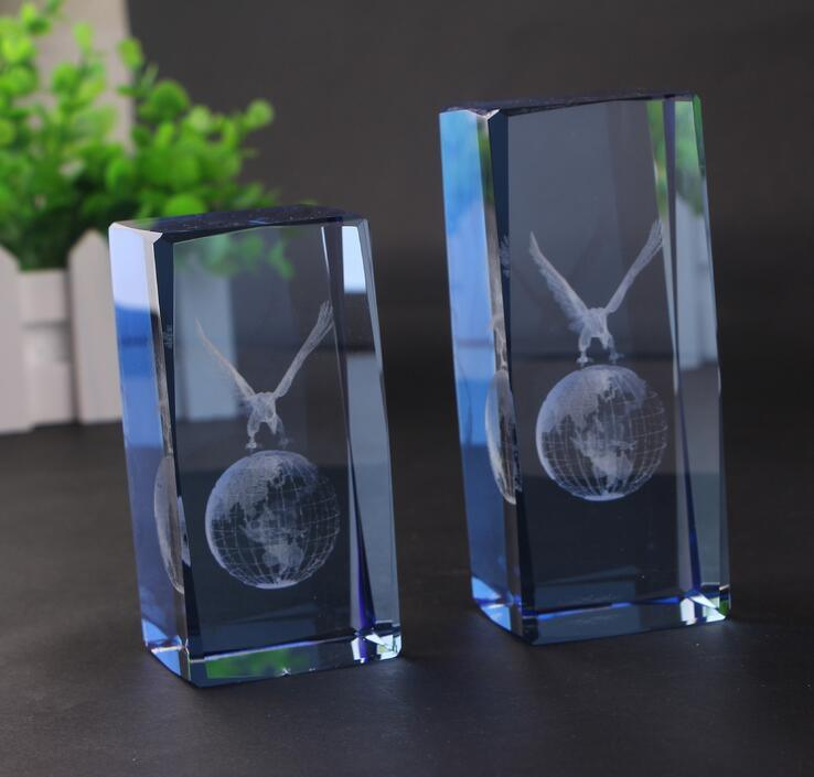 3D Laser Engraving Cube Paperweight Craft for Crystal Gift